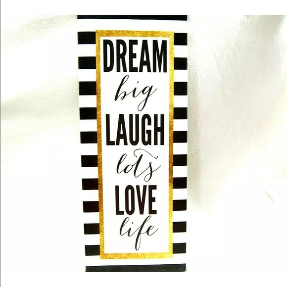Accents Home Decor Wall Hanging Dream Laugh Love 14x6 In Poshmark